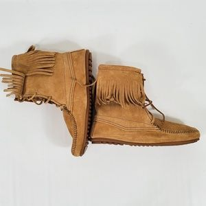 Minnetonka New Suede moccasin boots (MC)